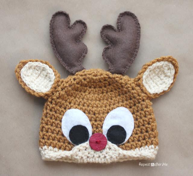 Crochet Patterns Galore - Crochet Rudolph the Reindeer Hat