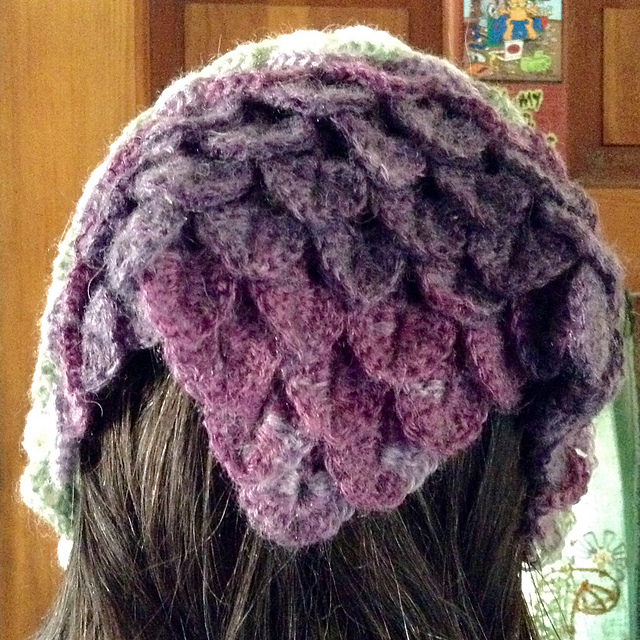 Crochet Patterns Galore Dragon Scale Head Kerchief