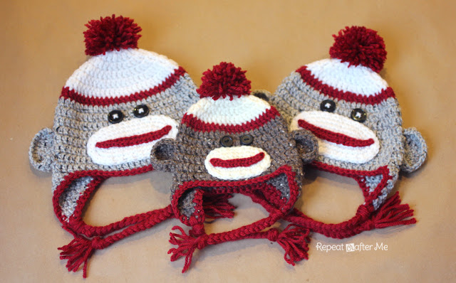 Crochet Patterns Galore Crochet Sock Monkey Hat