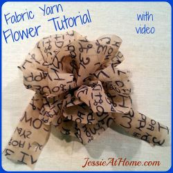 Fabric Yarn Flower
