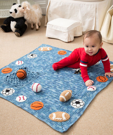 Crochet Patterns Galore Young Athlete Blanket And Rattles