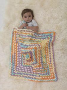 Crochet Patterns Galore Sherbert Granny Stroller Blanket