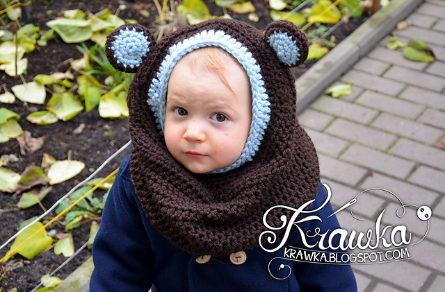 Crochet Patterns Galore Little Bear Hooded Cowl