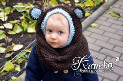 Little Bear Hooded Cowl