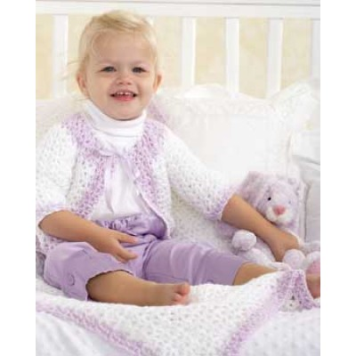 Crochet Patterns Galore Baby Jacket And Blanket