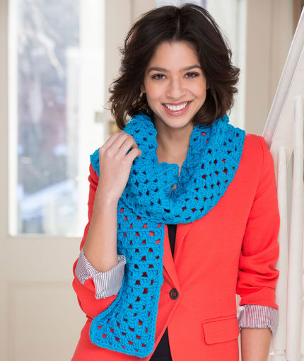 Crochet Patterns Galore Beginner Granny Square Scarf