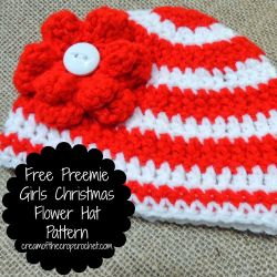 Preemie Girls ChristmasFlower Hat