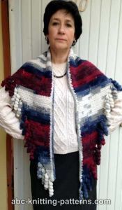 Small Sideways Shawl with Corkscrew Fringe