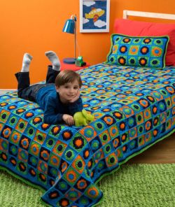 Kids Twin Bed Afghan & Pillow