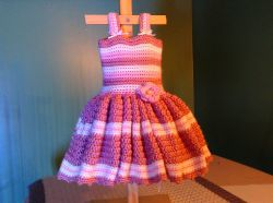 Newborn Pink Stripe Dress