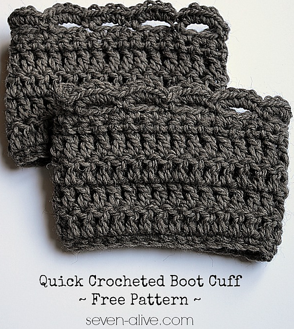 Free Crochet Pattern Quick : Crochet Patterns Galore - Quick Boot Cuff