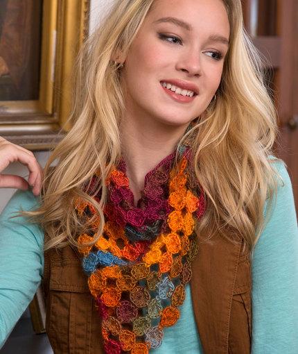 Crochet Patterns Galore Yo Yo Scarf