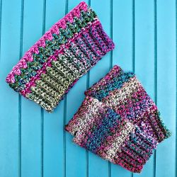 Joyful & Bright Fingerless Mitts