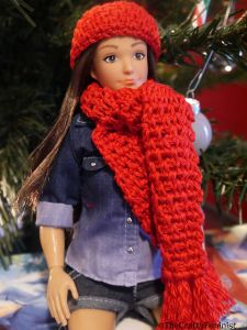 Lammily Doll Hat and Scarf