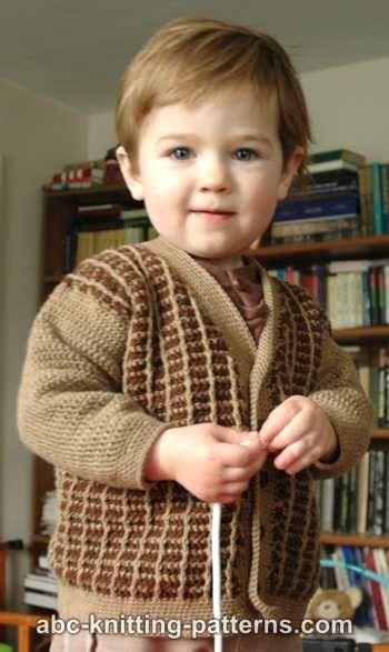 7a8abb21da81a Crochet Patterns Galore - Young Gentleman Two-Tone Cardigan
