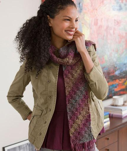 Crochet Patterns Galore Diagonal Scarf
