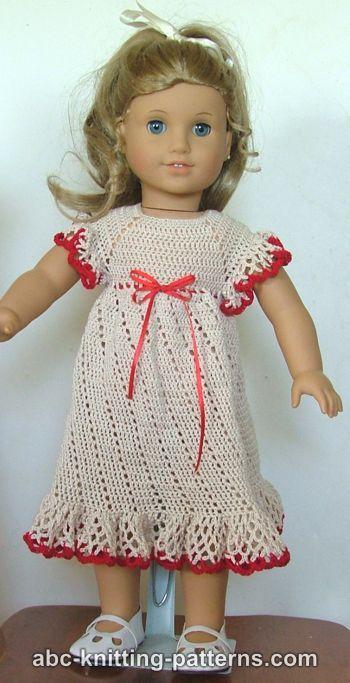 Crochet Patterns Galore American Girl Doll Summer Raglan Dress