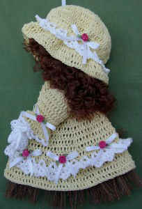 Sunbonnet Sue Broom Doll