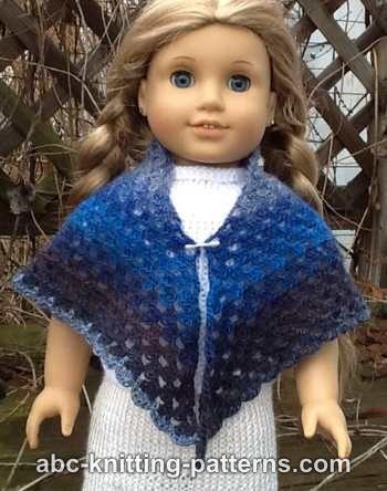 Crochet Patterns Galore American Girl Doll Granny Shawl