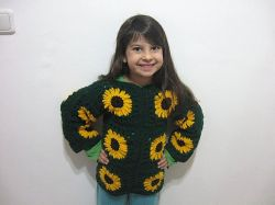 Sunflower Granny Sweater