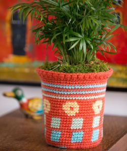 Tapestry Flower Pot Cozy