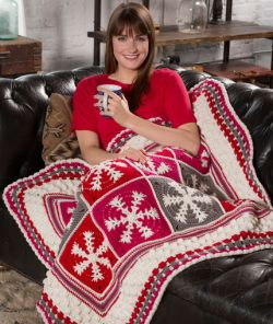 Crochet Patterns Galore Snowflake Throw