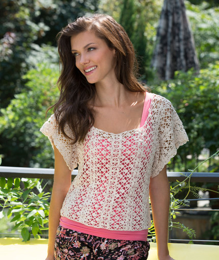 376 best granny square clothing images on Pinterest ... |Thread Crochet Top
