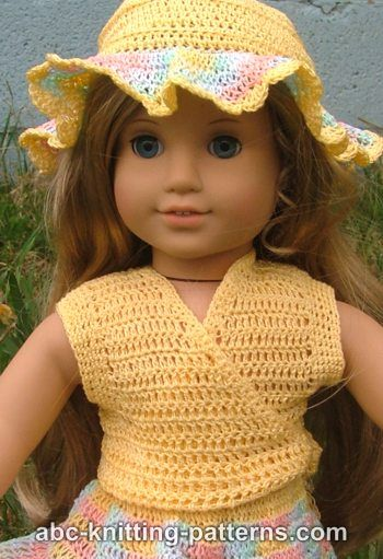 Crochet Poncho Pattern For 18 Inch Doll : Crochet Patterns Galore - American Girl Doll Sleeveless ...