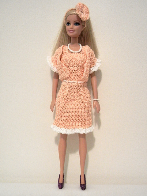 Crochet Patterns Galore Peaches And Cream Barbie Suit