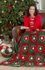 Holiday Hearts Throw