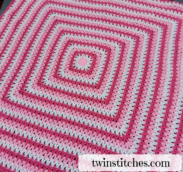 Crochet Patterns For Blankets Square Patterns : Crochet Patterns Galore - Wobbly Squares Blanket