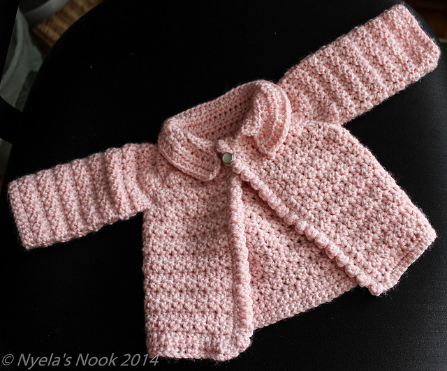 Free Crochet Jacket Patterns For Babies : Crochet Patterns Galore - Cute Baby Cardigan
