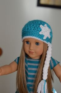 "Ice Queen Hat for 18"" Doll"