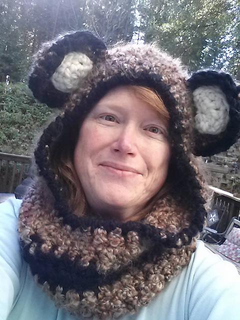 Crochet Patterns Galore Cuddly Colfax Bear Hooded Cowl