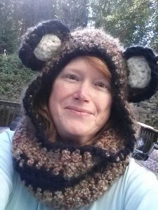 Cuddly Colfax Bear Hooded Cowl
