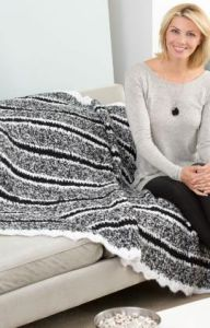 Cozy Striped Throw