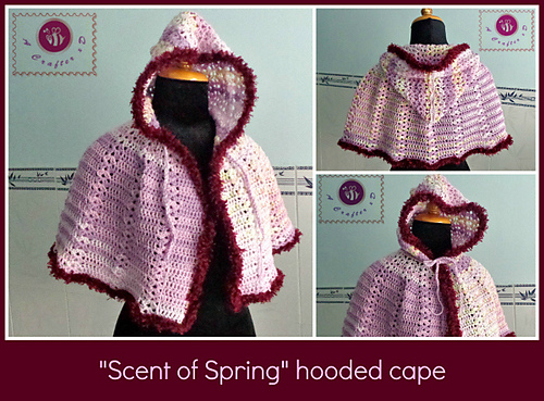 Crochet Patterns Galore Scent Of Spring Hooded Cape