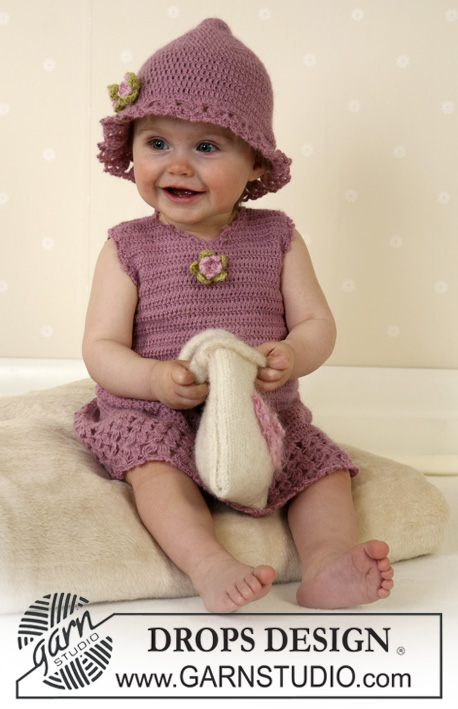 Crochet Patterns Galore Drops Baby Dress And Hat