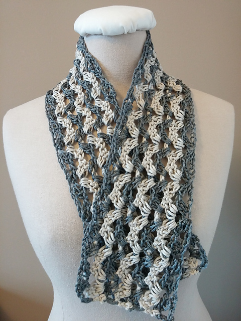 Crochet Patterns Galore Childs Lacy Scallop Scarf