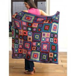 Bright Squares Blanket and Pillow