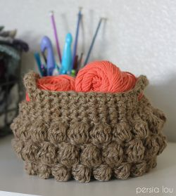 Jute Bobble Basket