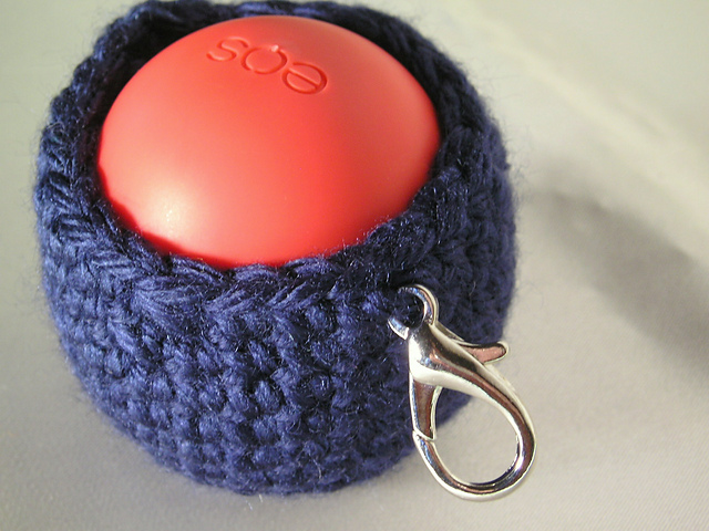 Crochet Egg Holder : Crochet Patterns Galore - EOS Egg Lip Balm Holder