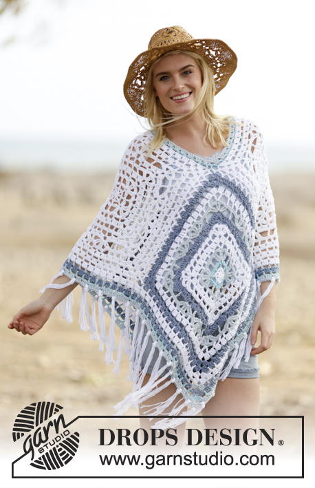 Bohemian Poncho Free Crochet Pattern : Crochet Patterns Galore - Bohemian Blues
