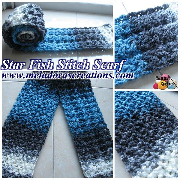 Crochet Patterns Galore Star Fish Stitch Scarf
