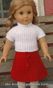 American Girl Doll Real Easy V-Stitch Skirt