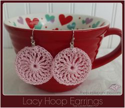 Lacy Hoop Earrings
