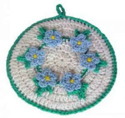 Forget-Me-Not Potholder