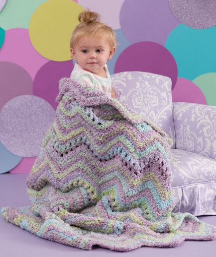 Crochet Patterns Galore Ripple Baby Blanket