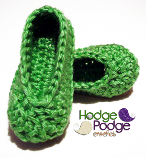 Crochet Patterns Galore Basic Baby Shoes