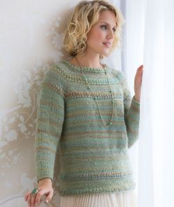 Tunisian Star Stitch Pullover